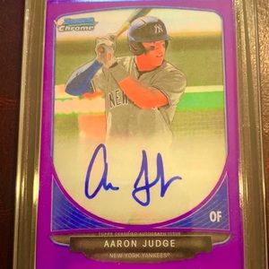 Aaron Judge Autographed Rookie RP Card
